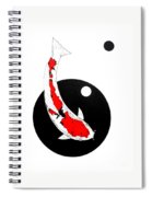 Koi Sanke Circles Nishikoi Painting Spiral Notebook