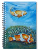 Koi's On The Reef Spiral Notebook