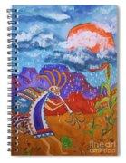 Kokopelli Bringing The Rains Spiral Notebook