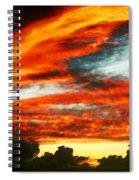 Kona Sunset 77 Lava In The Sky  Spiral Notebook