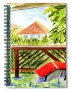 Kona View From The Deck Spiral Notebook