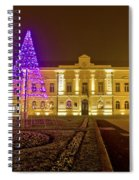 Koprivnica Night Street Christmas Scene Spiral Notebook