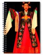 Korean Woman Dancer Spiral Notebook