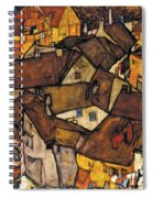 Krumau - Crescent Of Houses. The Small City V Spiral Notebook