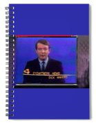 Kvoa Tv Anchorman Interviewer Writer Photographer Dick Mayers Screen Capture Collage Circa 1965-2011 Spiral Notebook