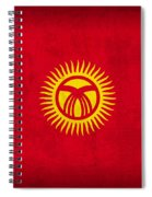 Kyrgyzstan Flag Vintage Distressed Finish Spiral Notebook