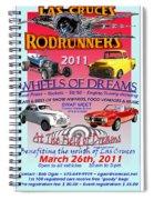 L C Rodrunner Car Show Poster Spiral Notebook