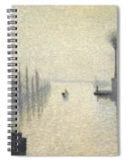 L Ile Lacroix. Rouen. The Effect Of Fog Spiral Notebook