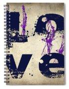 L O V E Crumbling Spiral Notebook
