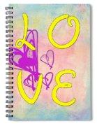 L O V E Disney Style Spiral Notebook