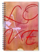 L O V E Script With Heart Spiral Notebook