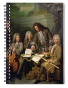 La Barre And Other Musicians, C.1710 Oil On Canvas Spiral Notebook