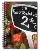 La Boutonniere Spiral Notebook