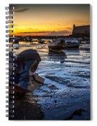 La Caleta Beach Cadiz Spain Spiral Notebook