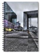 La Defense In The Rain Spiral Notebook