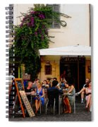 La Dolce Vita At A Cafe In Italy Spiral Notebook