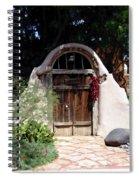 La Entrada A La Casa Vieja De Mesilla Spiral Notebook