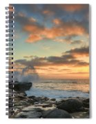La Jolla Cove At Sunset Spiral Notebook