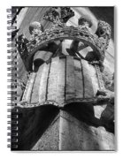 La Lonja Angels Black And White Spiral Notebook