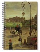 La Place De La Concorde Spiral Notebook