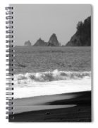La Push Beach Black And White Spiral Notebook