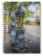 La Rambla Fountain  Spiral Notebook
