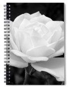 La Rosa In Black And White Spiral Notebook
