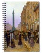 La Rue De La Paix Spiral Notebook