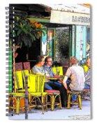La Station Rambuteau Wine Drinkers Spiral Notebook