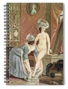 La Toilette Engraving By Louis Marin Spiral Notebook