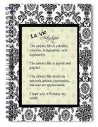 La Vie Artistique Spiral Notebook