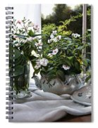 La Zuppiera Bianca E Rosa Spiral Notebook