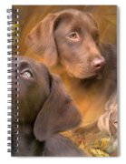 Lab In Autumn Spiral Notebook