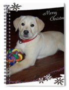 Lab Pup Merry Christmas Spiral Notebook