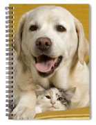 Labrador With Cat Spiral Notebook