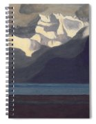 Lac Leman And Les Dents-du-midi Spiral Notebook
