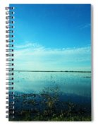 Lacassine Nwr Pool Blue And Green Spiral Notebook