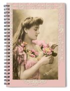 Lace And Poisies Victorian Lady Spiral Notebook