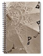 Lace Parasol In Sepia Spiral Notebook