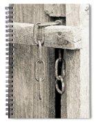 Ladder Chain Bw Spiral Notebook