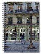 Laduree On The Champs De Elysees In Paris France  Spiral Notebook