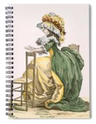 Ladies Elaborate Gown, Engraved Spiral Notebook