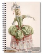 Ladies Evening Gown, Engraved By Dupin Spiral Notebook