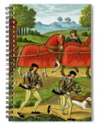 Ladies Hunting, From A Miniature Spiral Notebook