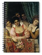 Ladies On A Balcony Spiral Notebook