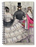 Ladies Wearing Crinolines At The Royal Italian Opera Spiral Notebook
