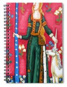 Lady And The Unicorn La Pointe Spiral Notebook