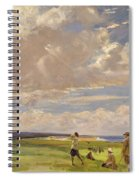 Lady Astor Playing Golf At North Berwick Spiral Notebook