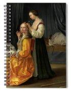 Lady At Her Toilet Spiral Notebook