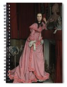 Lady At The Fireplace   Spiral Notebook